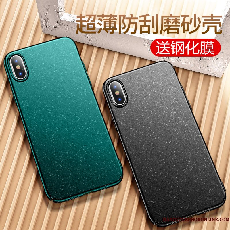 Hoesje iPhone Xs Max Scheppend Trend Groen, Hoes iPhone Xs Max Siliconen Dun Accessoires