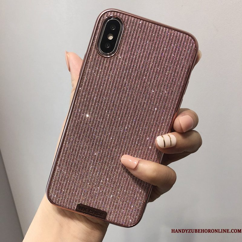 Hoesje iPhone Xs Mode Net Red High End, Hoes iPhone Xs Luxe Telefoon